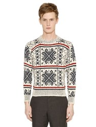 Thom Browne Wool And Mohair Jacquard Sweater