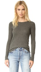 James Perse Waffle Cashmere Sweater Sepia