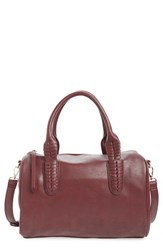 Sole Society Faux Leather Satchel Pink Berry