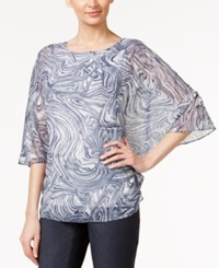 Alfani Swirl Print Poncho Top Only At Macy's Marble Layers