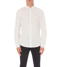 Michael Kors Micro Print Cotton Shirt White