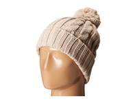 San Diego Hat Company Knh3423 Solid Cable Beanie With Pom Pom Cream Beanies Beige