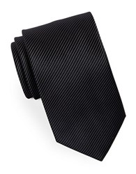 Hugo Narrow Striped Silk Tie Black