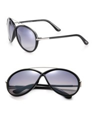 Tom Ford Injected 64Mm Oversized Oval Sunglasses Gold
