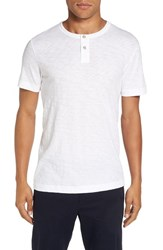 Theory Men's 'Gaskell' Henley T Shirt White