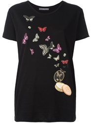 Alexander Mcqueen Butterfly And Moth Print T Shirt Black