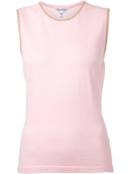 Oscar De La Renta Basic Tank Pink And Purple