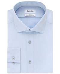 Calvin Klein Steel Slim Fit Non Iron Performance Solid Dress Shirt Blue