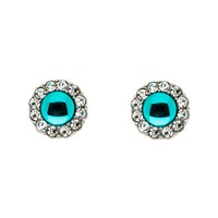 Monet Silver Blue Zircon Crystal Earrings