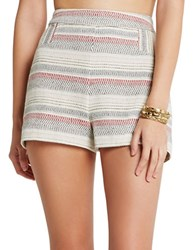 Bcbgeneration Striped Tweed A Line Shorts Sand Combo