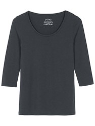Fat Face Laura Three Quarter T Shirt Slate Grey