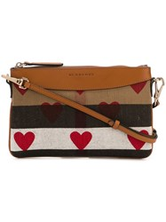 Burberry Heart Print Crossbody Bag Nude And Neutrals