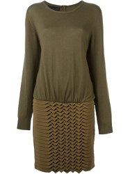 Jay Ahr Origami Jumper Dress Green