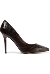 Bruno Magli Alvia Snake Effect Leather Pumps Black