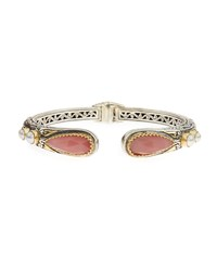 Konstantino Guava Agate And Onyx Hinged Bangle Bracelet Women's