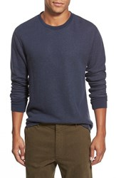 Men's Relwen Raw Hem Crewneck Thermal Navy