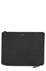 Givenchy Men's Leather Zip Pouch Black