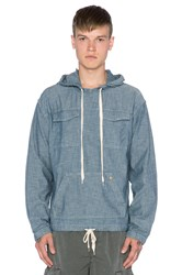 Ever Bolsa Pull Over Hoodie Blue