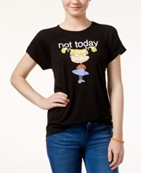 Freeze 24 7 Juniors' Rugrats Not Today High Low Graphic T Shirt Black