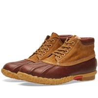 Visvim Decoy Duck Boot Mid Folk Brown