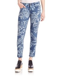 Stella Mccartney Tiger Print Skinny Ankle Jeans Granite
