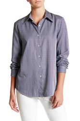Six Crisp Days Long Sleeve Pinstripe Shirt Blue