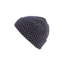 Lacoste L Ve Men's Ribbed Beanie Hat Navy Blue White