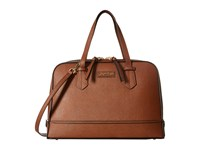 Calvin Klein Saffiano Satchel Luggage Satchel Handbags Brown