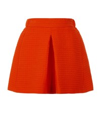 Maje Idole Textured Shorts Female Bright Red