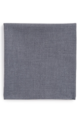 1901 Chambray Pocket Square Chambray Blue