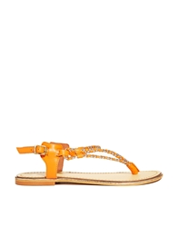 Asos Fish Tank Leather Sandals Coralgold