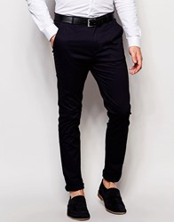 New Look Slim Fit Chino In Navy Navy