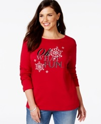 Karen Scott Plus Size Holiday Graphic Top Only At Macy's