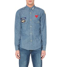 Human Made Military Chambray Shirt Blue