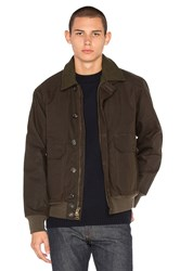 Filson Ranger Oil Cloth Bomber Brown