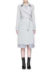 Theory 'Oaklane' Belted Wool Cashmere Coat Grey