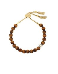 Cole Haan Tigers Eye And 12K Goldplated Bracelet Brown