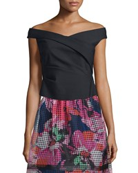 Phoebe Couture Off The Shoulder Ruched Top Black