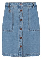Only Onlnew Farrah Aline Skirt Light Blue Denim