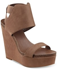 Vince Camuto Kresta Platform Wedge Sandals Women's Shoes Taupe