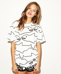 Lazy Oaf Sharks T Shirt For Girls