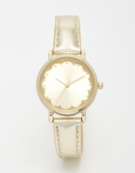 New Look Scallop Face Gold Watch