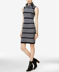 Tommy Hilfiger Carmen Striped Cowl Neck Sweater Dress Masters Navy