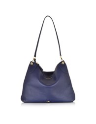 Hogan Leather Hobo Bag Blue
