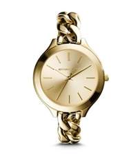 Michael Kors Slim Runway Gold Tone Chain Link Watch