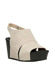 Dr. Scholl's Suede Slingback Wedge Sandals Bone
