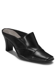 Aerosoles Cincture Faux Leather Mules Black Pu