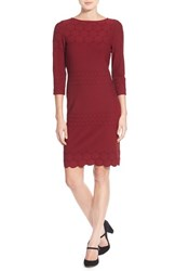 Julia Jordan Women's Eyelet Sheath Dress Marsala