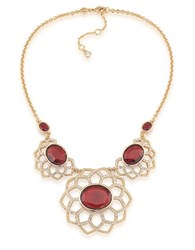 Carolee The Big Apple 12K Goldplated Statement Necklace Red