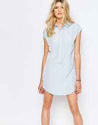 Vero Moda Sleeveless Shirt Dress Blue